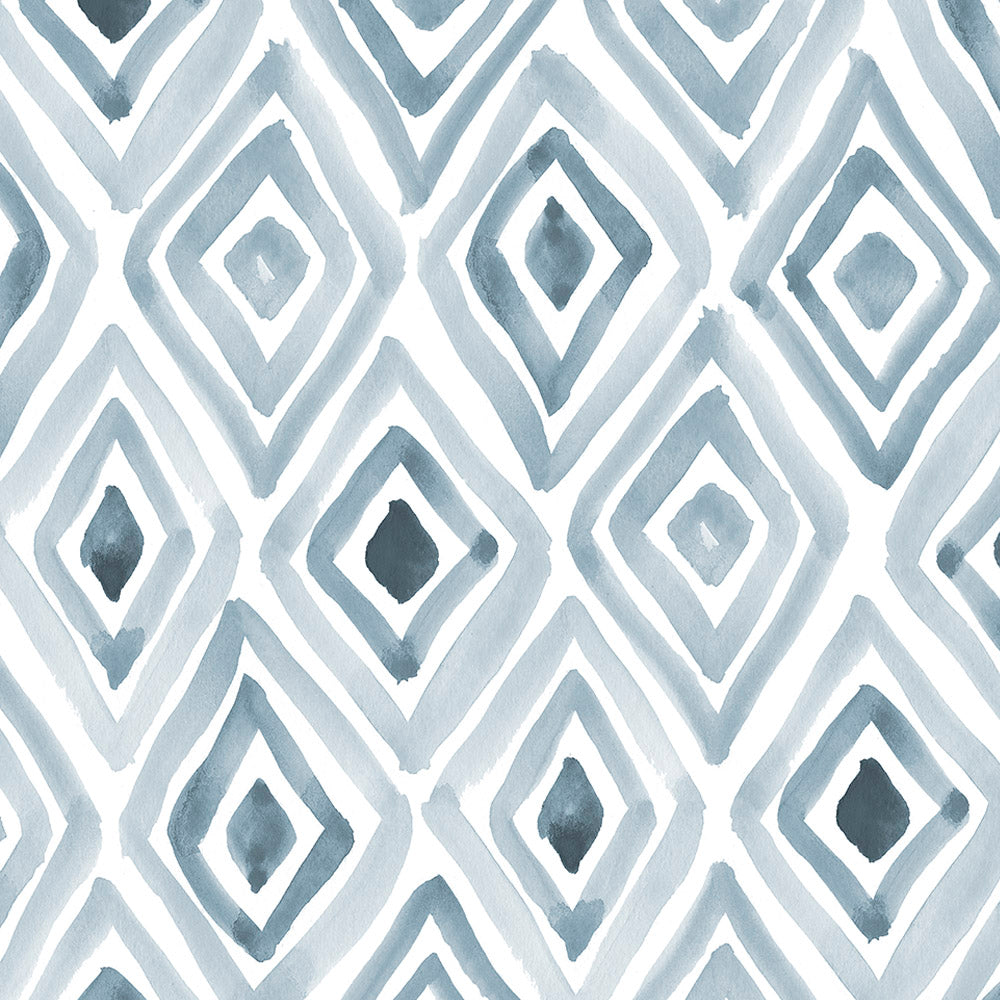 Product image for Steel Blue Painted Diamond Baby Blanket