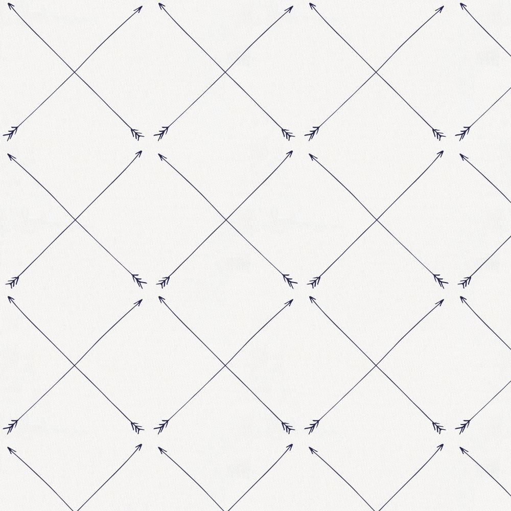 Product image for Navy Cross Arrow Crib Sheet