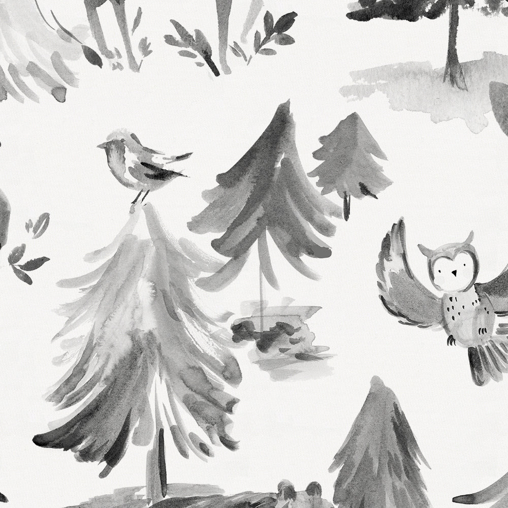 Product image for Gray Painted Forest Crib Sheet