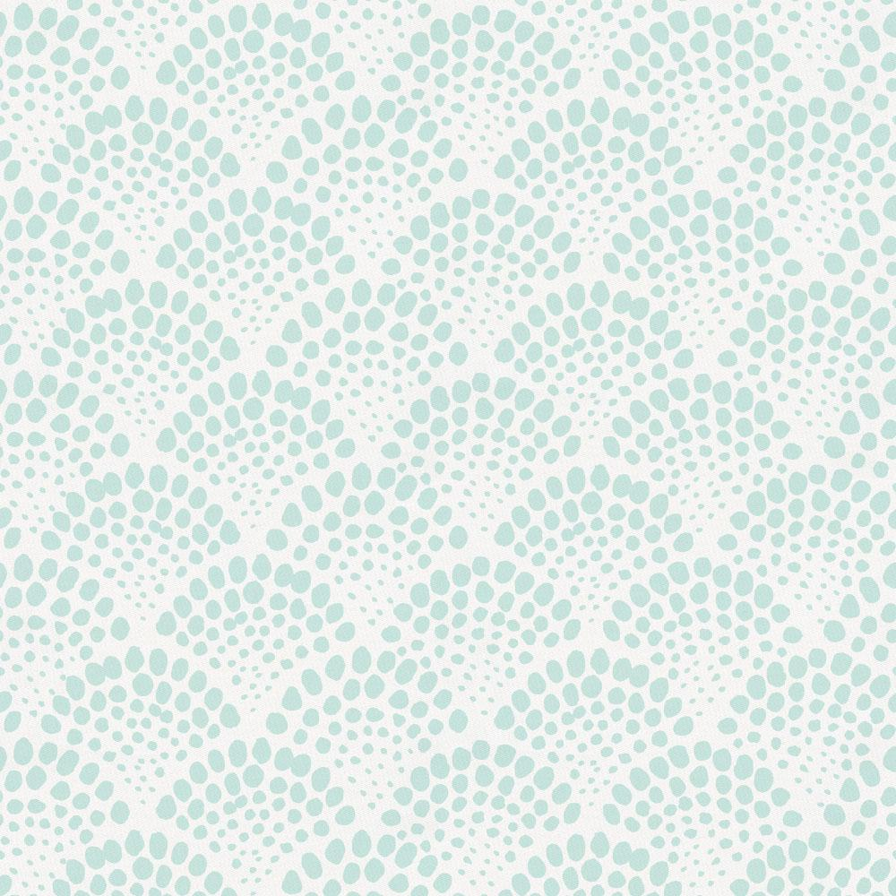 Product image for Icy Mint Scallop Dot Crib Sheet