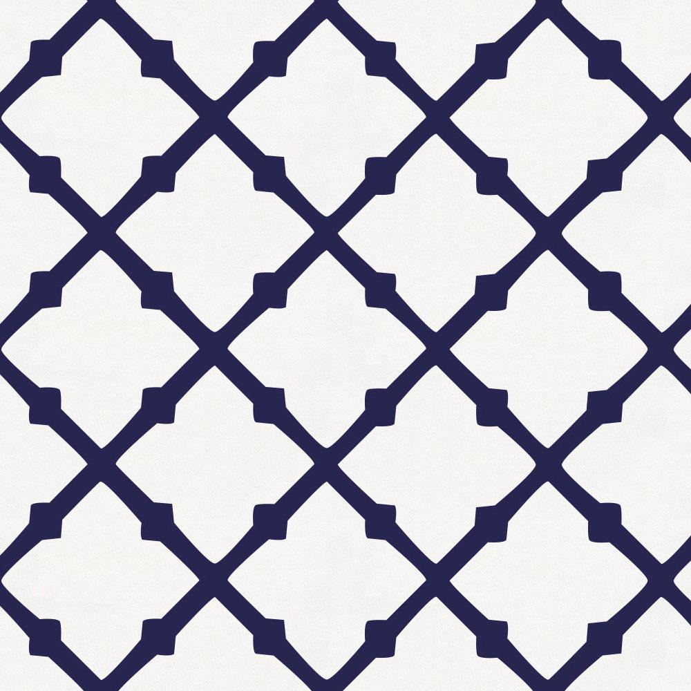 Product image for Windsor Navy Lattice Baby Blanket