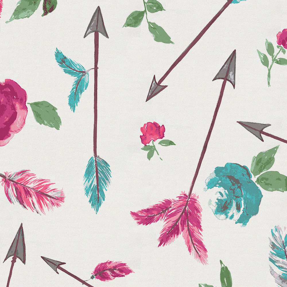 Product image for Floral Arrow Crib Sheet