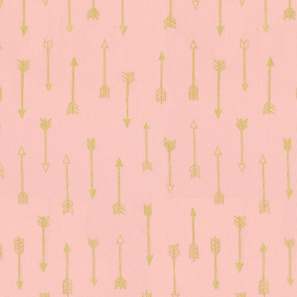 Product image for Blush and Gold Arrows Crib Sheet