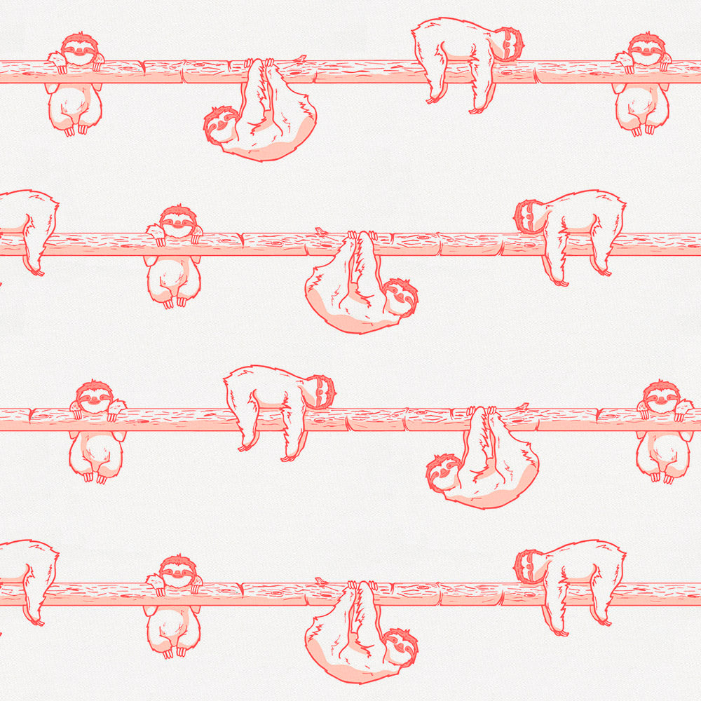 Product image for Coral Sloth Crib Sheet