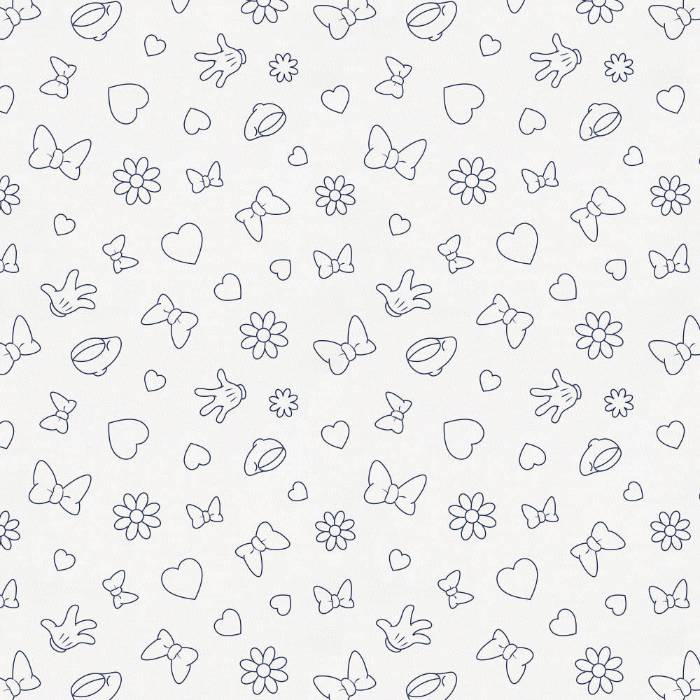 Product image for Disney© Navy Minnie Icons Crib Sheet