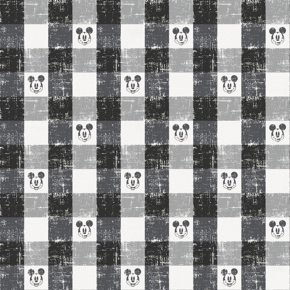 Product image for Disney© Black Mickey Plaid Crib Sheet