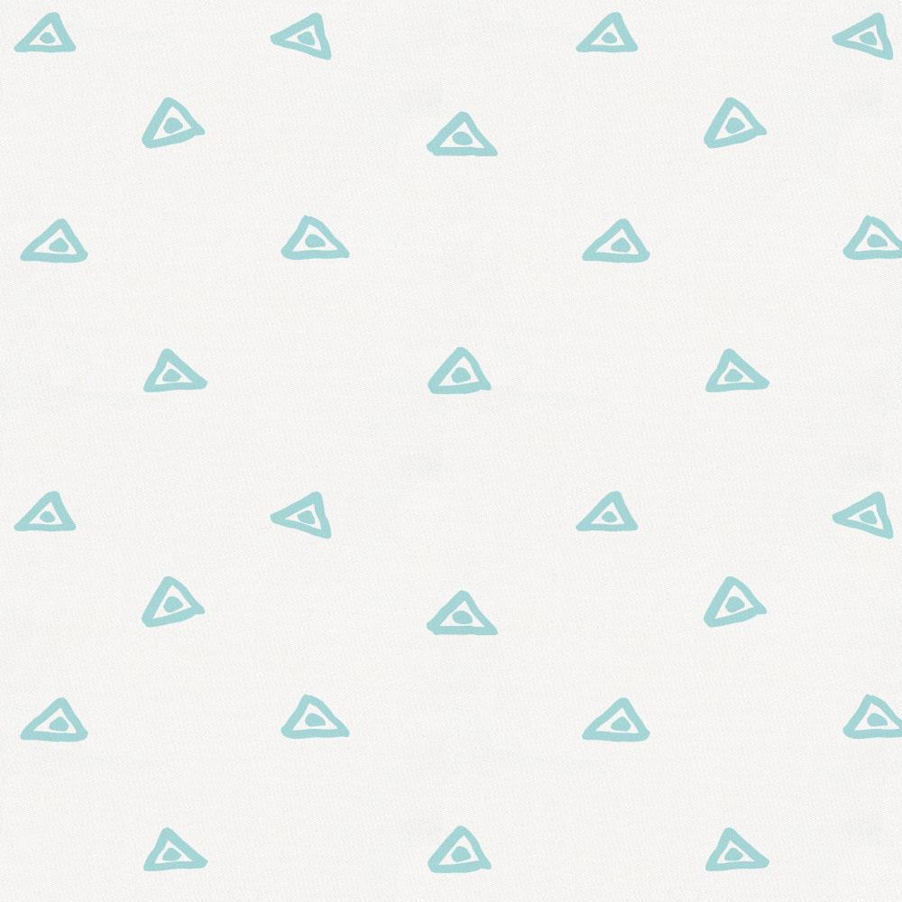 Product image for Seafoam Aqua Triangle Dots Crib Sheet