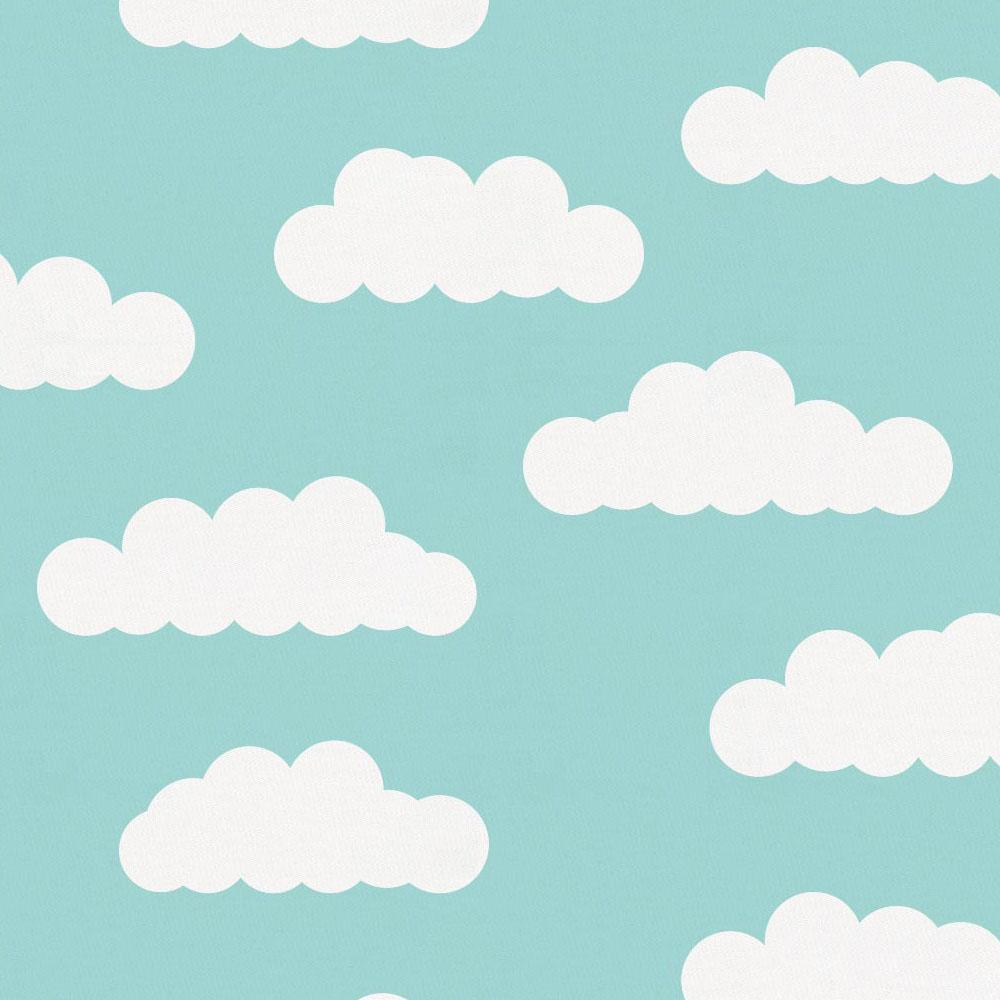 Product image for Seafoam Aqua Clouds Baby Blanket