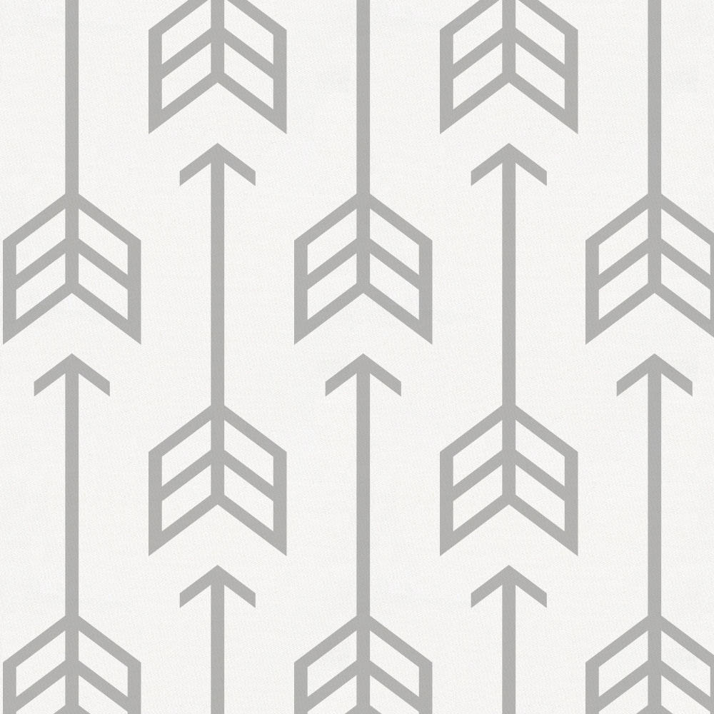 Product image for Silver Gray Arrow Crib Sheet