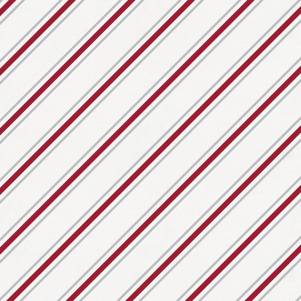 Product image for Gray and Crimson Necktie Stripe Crib Sheet