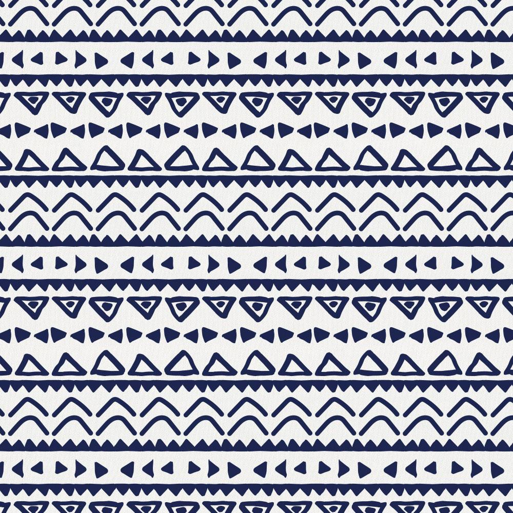 Product image for Windsor Navy Baby Aztec Crib Sheet