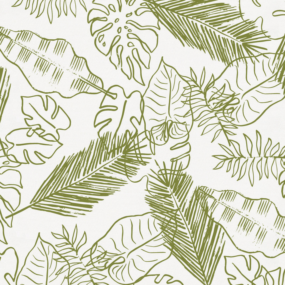 Product image for Sage Palm Leaves Crib Sheet