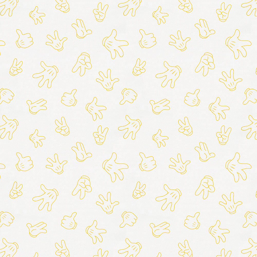 Product image for Disney© Saffron Mickey Gloves Crib Sheet