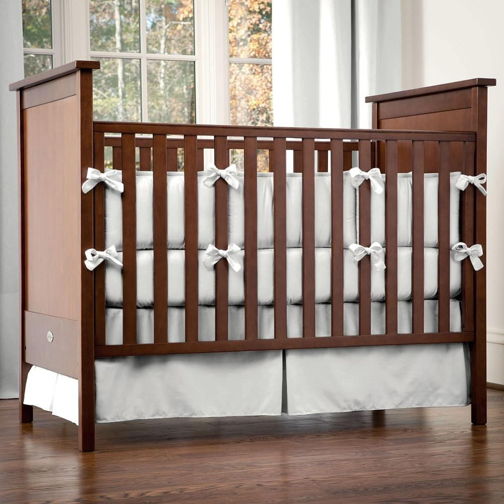 Product image for Solid Silver Gray Crib Bumper