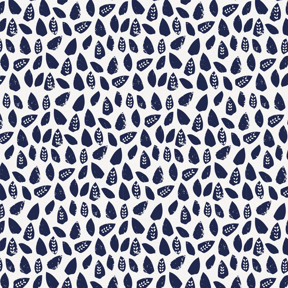 Product image for Navy Woodland Leaf Crib Sheet