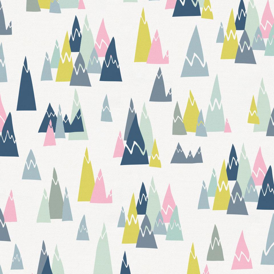 Product image for Pink Mountains Crib Sheet