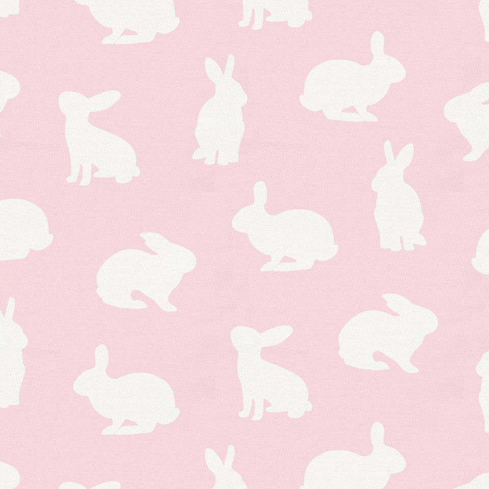 Product image for Pink and White Bunnies Crib Sheet