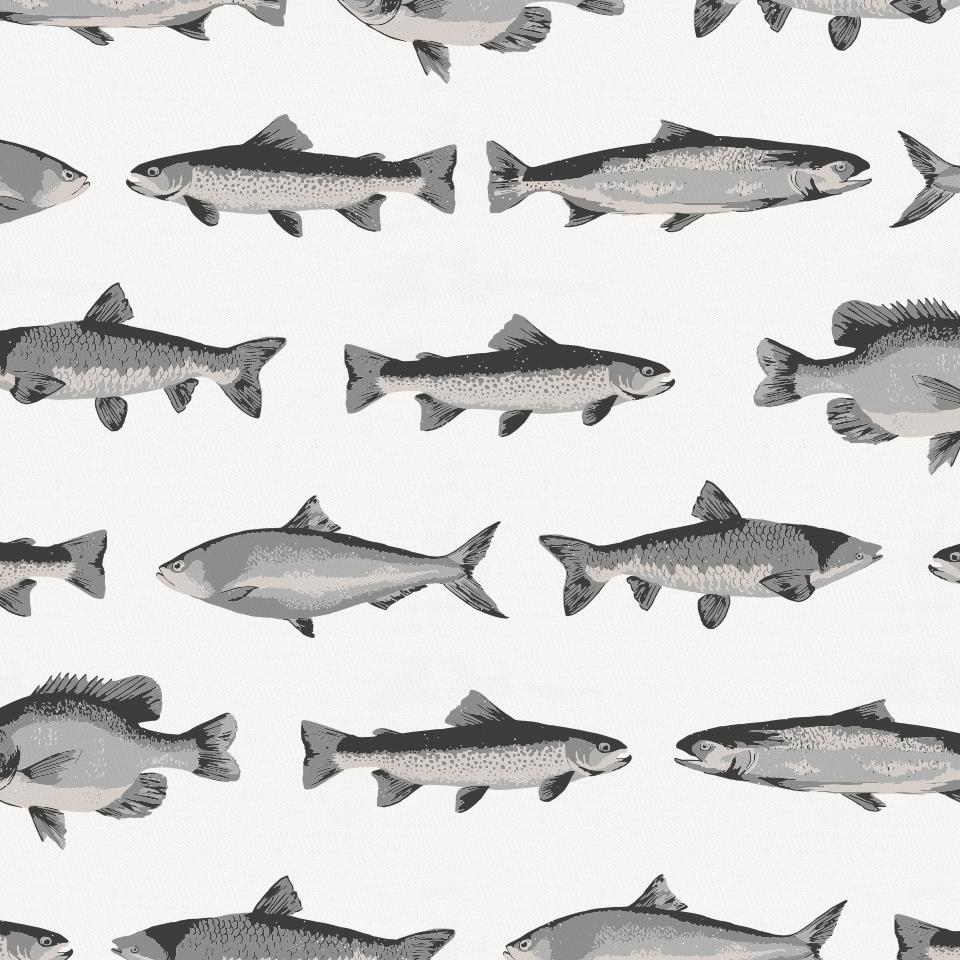 Product image for Gray Fish Crib Sheet