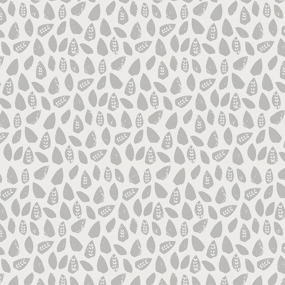 Product image for Gray Woodland Leaf Crib Sheet