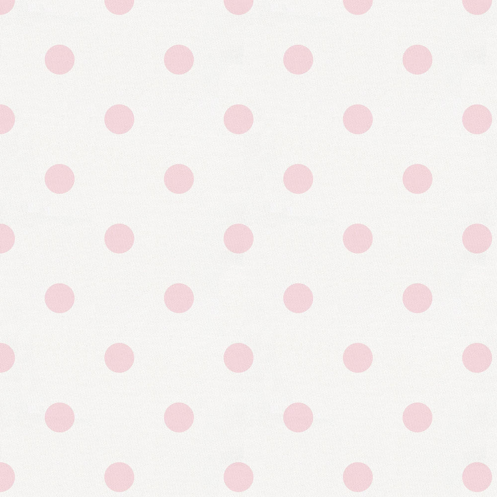 Product image for White and Pink Polka Dot Baby Blanket