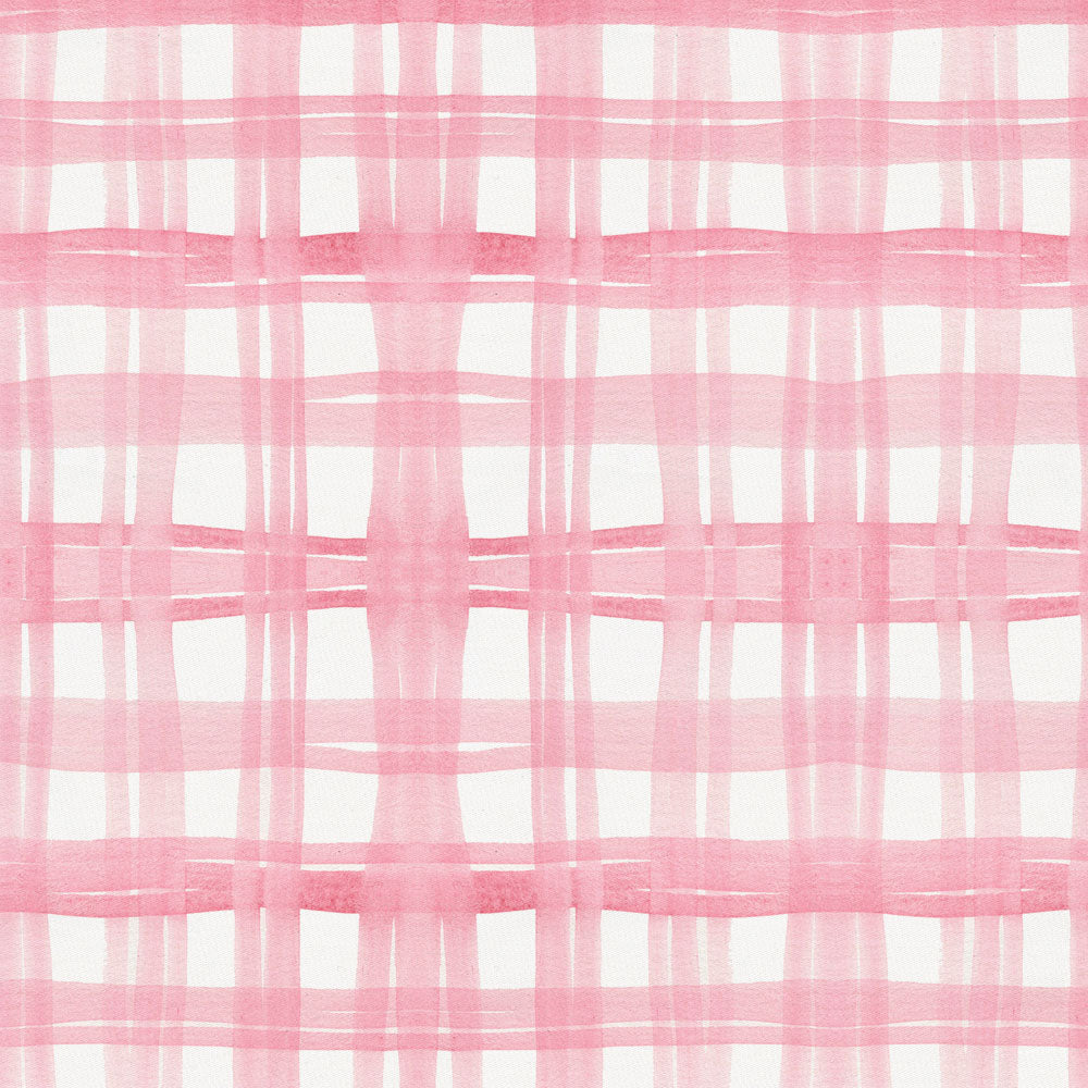 Product image for Pink Watercolor Plaid Baby Blanket