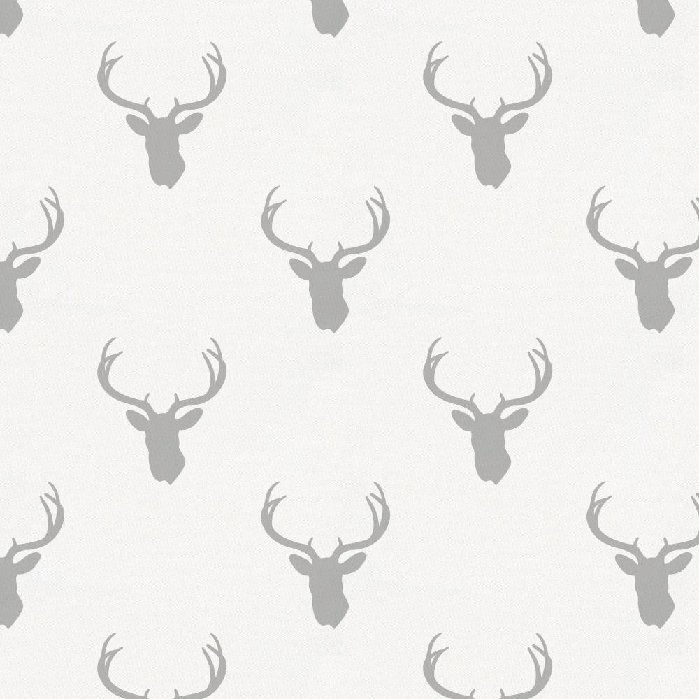 Product image for Silver Gray Deer Silhouette Crib Sheet