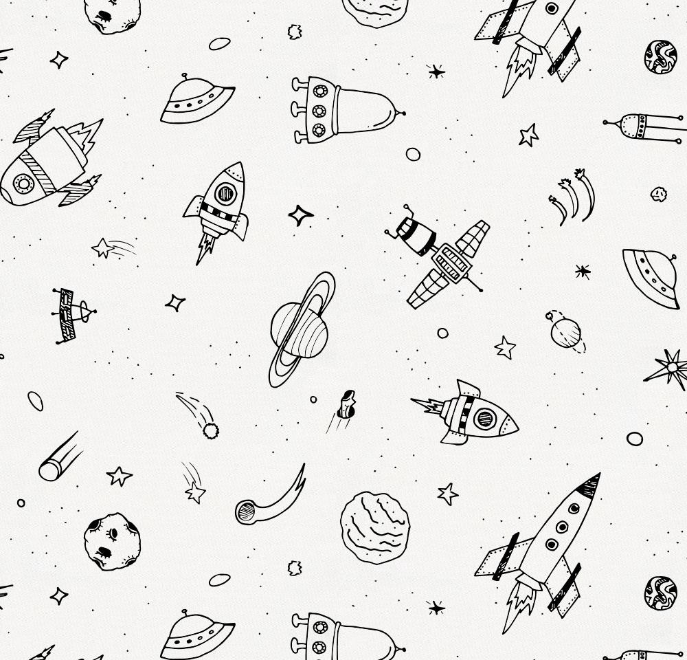 Product image for Onyx and White Rockets Crib Sheet