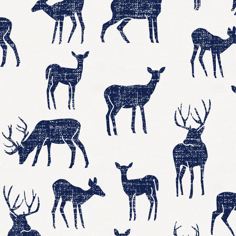 Product image for Windsor Navy Deer Baby Blanket