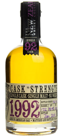 NZ Whisky Collection 92 Cask Strength 350ml