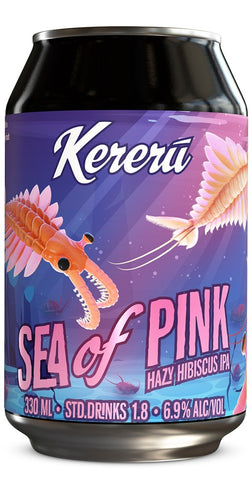 Kereru Sea of Pink Hazy Hibiscus IPA 330mL