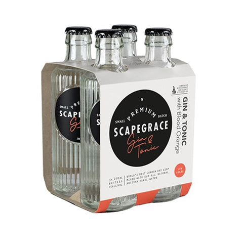 Scapegrace Gin & Tonic 4x250mL