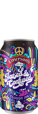 Emersons Hazed & Confused Hazy IPA 330mL