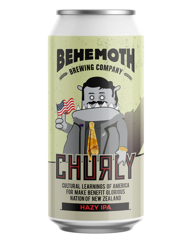 Behemoth 'Churly, Culteral Learnings for Benefit NZ' Hazy IPA 440mL