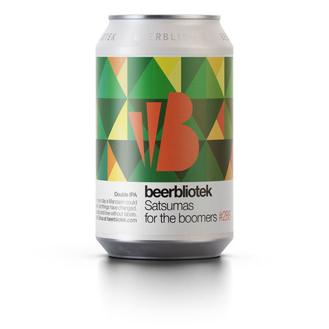 Beerbliotek Satsumas For The Boomers Double IPA 330mL