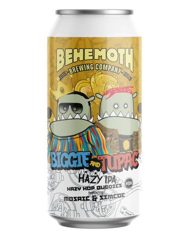 Behemoth Hop Buddies #10 Biggie & Tupac Hazy IPA 440mL