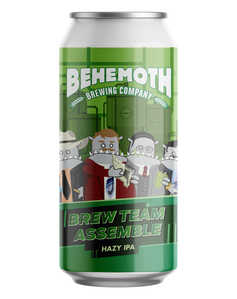 Behemoth Brew Team Assemble Hazy IPA 440mL