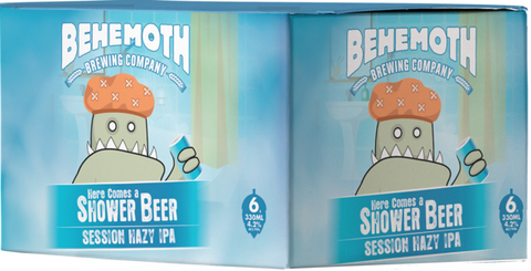 Behemoth 'Here Comes a Shower Beer' Session Hazy IPA 6x330mL