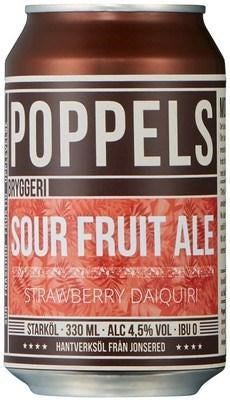 Poppels Strawberry Sour Fruit Ale 330mL
