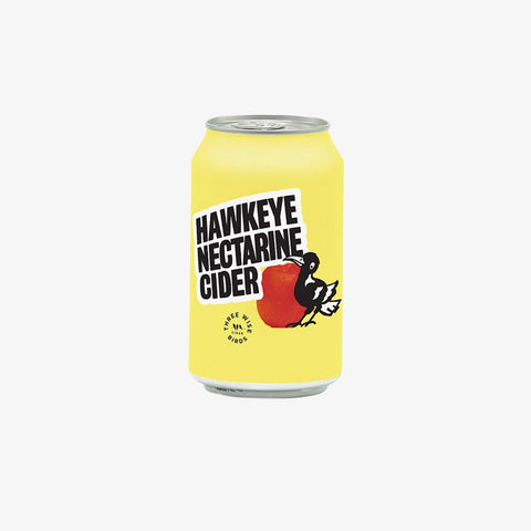 Three Wise Birds Hawkeye Nectarine Cider 330mL