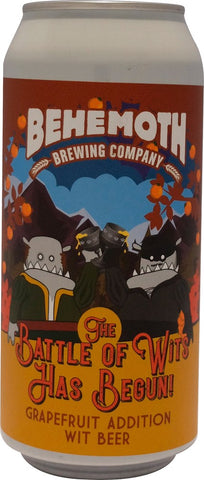 Behemoth 'Battle Of Wits' Grapefruit Wit Beer 440mL