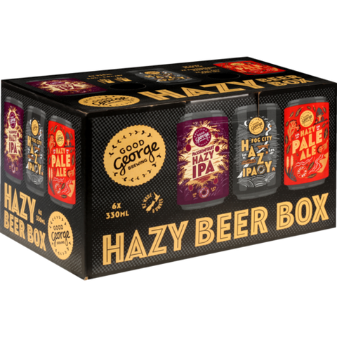Good George Hazy Beer Box 6x330mL