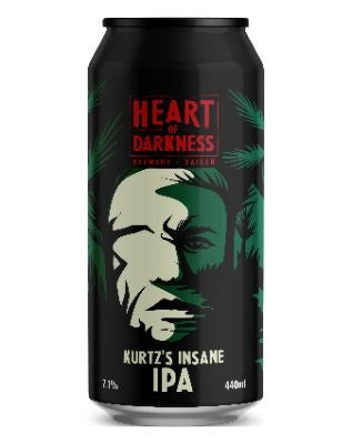Behemoth x Heart of Darkness Kurtz Insane IPA 440mL