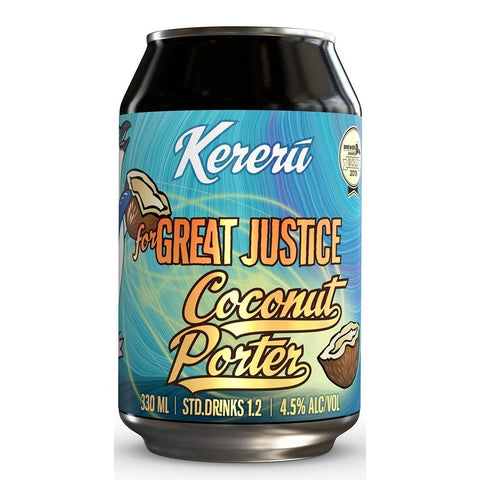 Kereru for Great Justice Coconut Porter 330mL