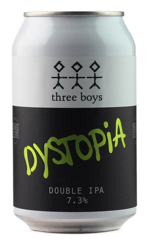 Three Boys Dystopia DIPA 330mL
