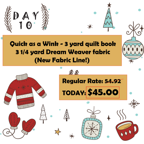 Day 10 12 Days of Christmas at Mad B's Quilt & Sew