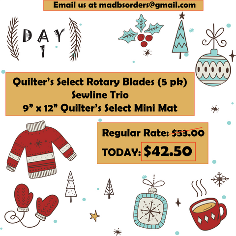 Mad B's Quilt & Sew 12 Days of Christmas Sale