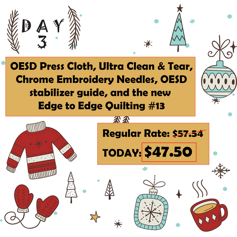 Day 3 12 Days of Christmas at Mad B's Quilt & Sew