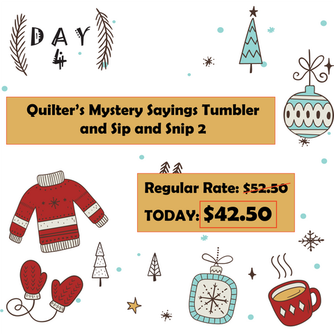 Day 4 12 Days of Christmas at Mad B's Quilt & Sew