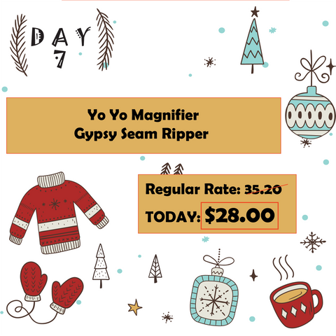 Day 7 12 Days of Christmas at Mad B's Quilt & Sew