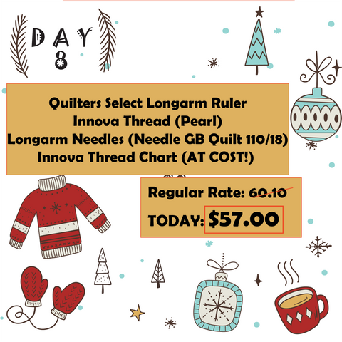 Day 8 12 Days of Christmas at Mad B's Quilt & Sew